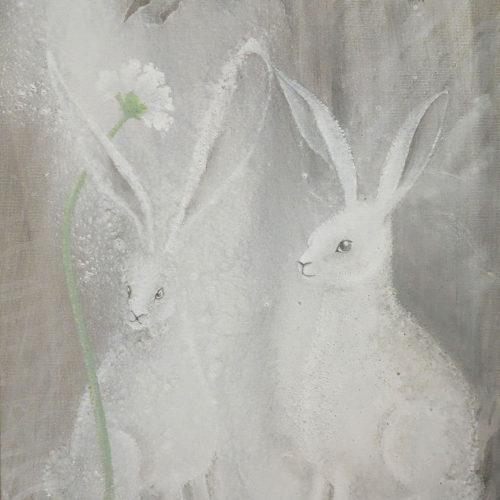 Du är sötare än en kanin med blomma på huvudet 43 x 45 cm